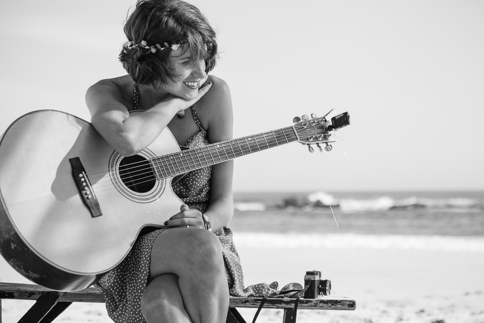 Holly Singer Acoustic Guitarist at Beach Wedding in South Africa