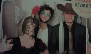 'Con Gas' wedding band trio having fun in the photobooth!