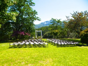 Ceremony Set Up - I was just under the tree out of the frame to the left in the shade  :) Photo by Emma Fenton