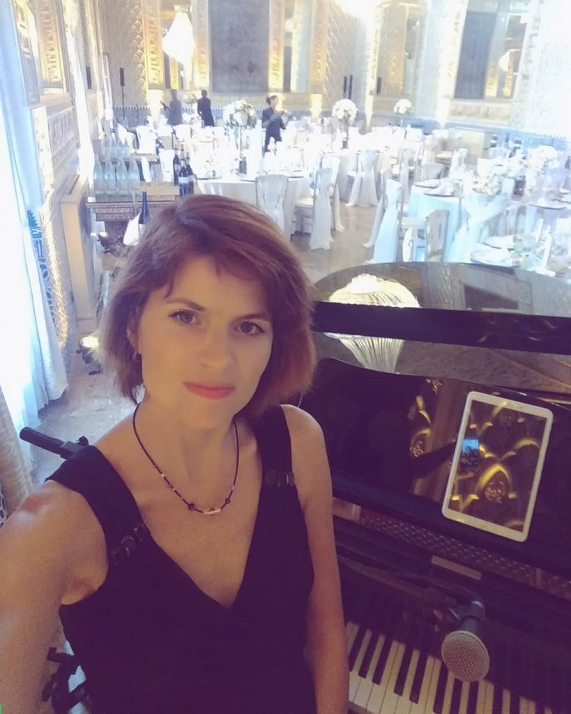 Wedding music at Son Julia Boutique Hotel in Mallorca with a real grand piano.